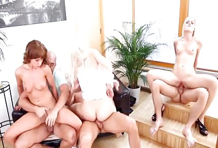 Group sex in living room