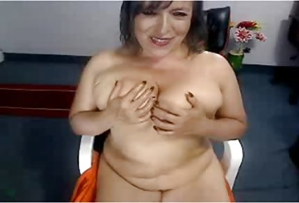 Fat mommy and webcam
