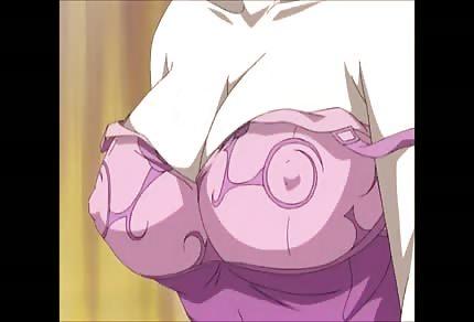 Nipples pierce through her pink t-shirt