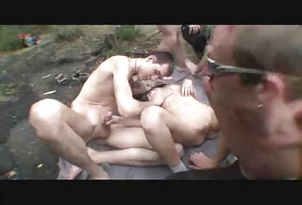 Group sex in the forest