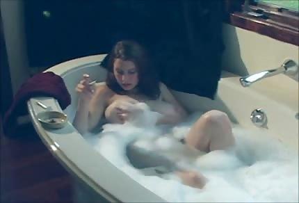 Smoking in the bathtub