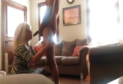 Mature blonde lady and big cock