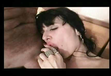 Brunette is fucking with him in hotel