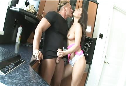 Fucking in the small kitchen