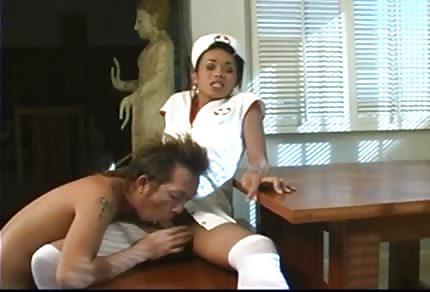 Black nurse likes anal sex