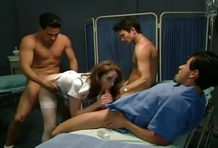 Kinky nurse with a few guys