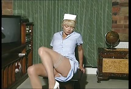 Blonde nurse solo