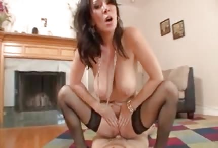 Mommy has a dildo in her ass