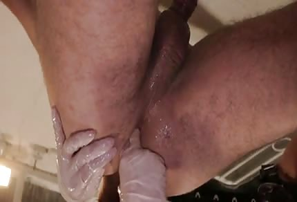 Slave was fucked in his ass
