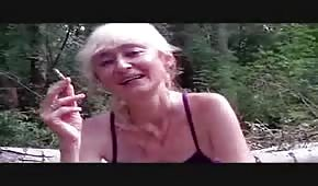 Russian homeless woman likes sex