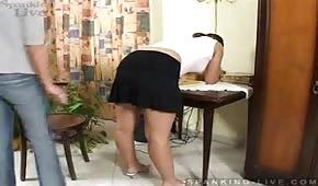 Secretary with a big ass