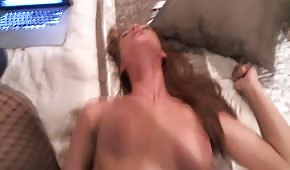 Her bouncing tits