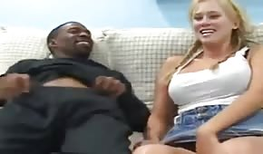 Sexy student with a black guy