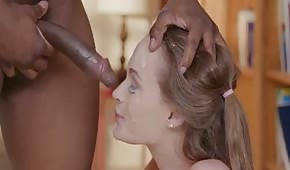Young girl and black cock