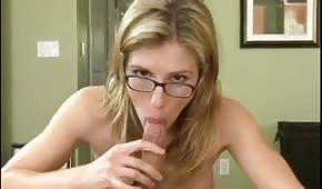 The blonde mounted his cock
