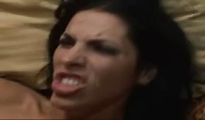 Sperm in her face