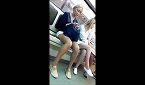 Sexy blond legs