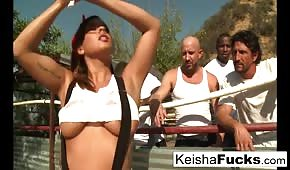 Keisha gets ready for her gangbang