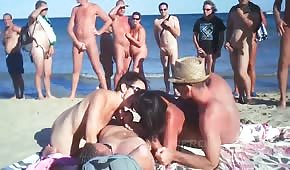 Compilation of erotic games on the beach