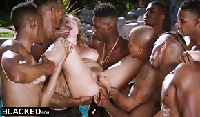 The blacks seduced the sexy Lena Paul