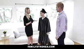 The graduate advances a hot mom