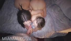 In a delicate triangle with Valentina Nappi and Mia Malkova