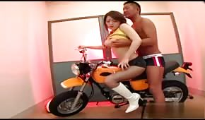 Motorbike sex with Asian