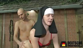 Sex with a nun on hay