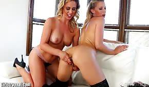 Juicy babes of erotic lesbians