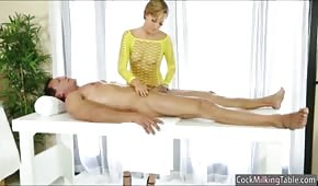 Masseuse in high heels