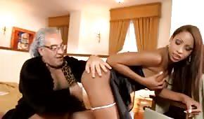 Grandpa fucks a sexy maid