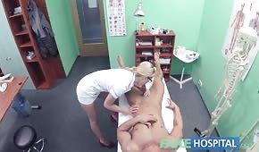 A hospital number with a nice nurse