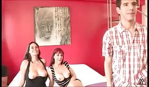 Group sex with two Spanish women