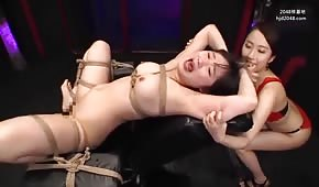 Tied up a naughty Asian