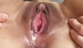 Close up of a wet pussy