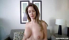 Beautiful stepmother has big tits