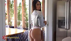 Latina with a wonderful ass