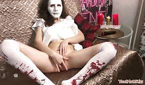 Crazy masturbation during Halloween