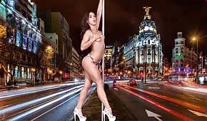 Sexy dancer doing a striptease