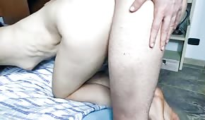 Pale amateur fucked from behind