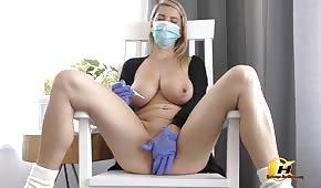 Busty doll in quarantine