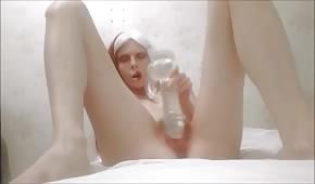 Naked emo Russian girl masturbates properly
