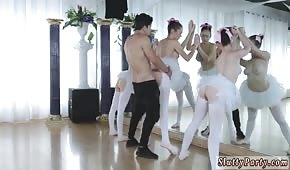 He blew three ballerinas in front of a mirror