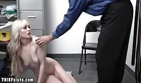An old man fucked a little blonde