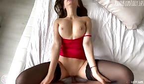 A wonderful model in black stockings