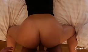 Big buttocks of an amateur fucked from behind