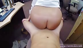 A chick with a big ass likes to get fucked in the office