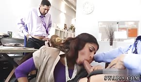 Group sex in the office with an Arab woman